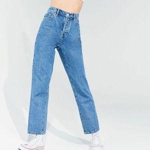 High Waisted Straight Leg Jeans PacSun